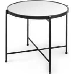 Mercana Samantha Large Black Mirror Top Accent Table, Black found on Bargain Bro from Ashley Furniture for USD $64.59