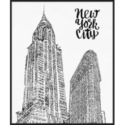 Giclee New York Wall Art, Black/White found on Bargain Bro Philippines from Ashley Furniture for $232.99