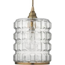 Antique Brass Pendant, Clear found on Bargain Bro India from Ashley Furniture for $214.99
