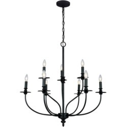 Hart Nine Light Chandelier, Oil Rubbed found on Bargain Bro from Ashley Furniture for USD $292.59