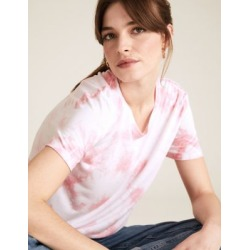 Marks & Spencer Tie-Dye Crew Neck Relaxed T-Shirt - Pink Mix - US 6 found on Bargain Bro from Marks and Spencers - US for USD $9.88