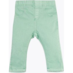 Marks & Spencer Cotton Coloured Jeggings (0-3 Yrs) - Smokey Green - 0-3 Months found on Bargain Bro Philippines from Marks and Spencers - US for $14.00