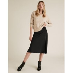 Marks & Spencer Jersey Knee Length Skater Skirt - Black - US 2 (UK 6) found on MODAPINS from Marks and Spencers - US for USD $42.50