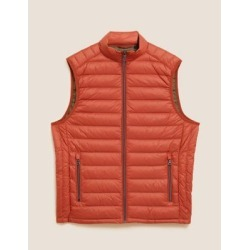 Marks & Spencer Feather & Down Padded Gilet with Stormwear™ - Dark Orange - US L found on Bargain Bro India from Marks and Spencers - US for $69.00
