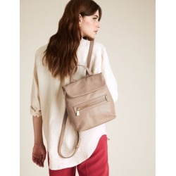Marks & Spencer Leather Mini Backpack - Mushroom - One Size found on Bargain Bro India from Marks and Spencers - US for $125.00