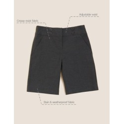 Marks & Spencer Girls' Regular Fit School Shorts - Grey - 2-3 Years found on Bargain Bro India from Marks and Spencers - US for $16.00
