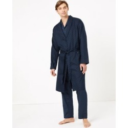 Marks & Spencer Big & Tall Pure Cotton Dressing Gown - Chambray - US S found on Bargain Bro Philippines from Marks and Spencers - US for $50.00
