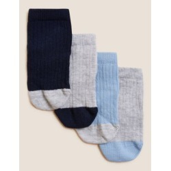 Marks & Spencer 4pk of Baby Socks (0-24 Mths) - White Mix - 0-6m found on Bargain Bro from Marks and Spencers - US for USD $6.84