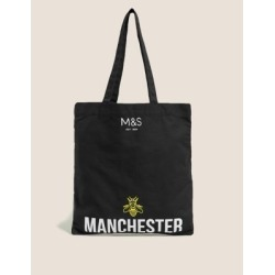 Marks & Spencer Canvas Manchester Bee Tote Bag - Black - One Size found on Bargain Bro India from Marks and Spencers - US for $9.00