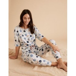 Marks & Spencer Cotton Cat Print Short Sleeve Pyjama Set - Grey Mix - US 2 (UK 6) found on Bargain Bro India from Marks and Spencers - US for $26.00