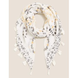 Marks & Spencer Western Tassel Scarf - Cream Mix - One Size found on Bargain Bro India from Marks and Spencers - US for $26.00