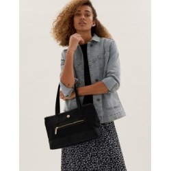 Marks & Spencer Zipped Detail Tote Bag - Black - One Size found on Bargain Bro India from Marks and Spencers - US for $50.00