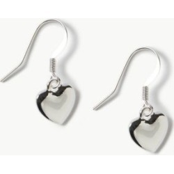 Marks & Spencer Heart Drop Earrings - Silver - One Size found on Bargain Bro India from Marks and Spencers - US for $9.00