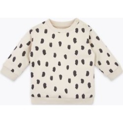 Marks & Spencer Cotton Rich Dash Print Sweatshirt (0-3 Yrs) - Ecru Mix - 12-18 Months found on Bargain Bro India from Marks and Spencers - US for $14.00