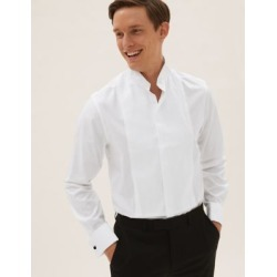 Marks & Spencer Slim Fit Pure Cotton Dinner Shirt - White - US 18.5 found on Bargain Bro from Marks and Spencers - US for USD $38.00