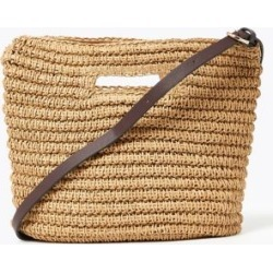 Marks & Spencer Straw Cross Body Bag - Natural - One Size found on Bargain Bro India from Marks and Spencers - US for $42.50