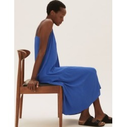 Marks & Spencer Midi Slip Dress - Blue - US 4 found on Bargain Bro India from Marks and Spencers - US for $39.00