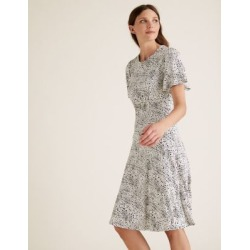 Marks & Spencer Jersey Polka Dot Skater Dress - Ivory Mix - US 6 (UK 10) found on MODAPINS from Marks and Spencers - US for USD $42.50