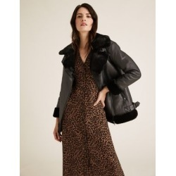Marks & Spencer Animal Print Puff Sleeve Midi Waisted Dress - Brown Mix - US 4 (UK 8) found on MODAPINS from Marks and Spencers - US for USD $77.50
