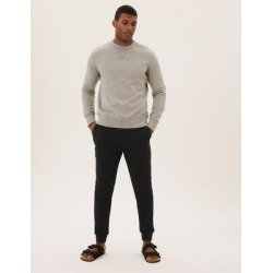 Marks & Spencer Cuffed Cotton Joggers - Cedar - US M found on Bargain Bro India from Marks and Spencers - US for $32.50