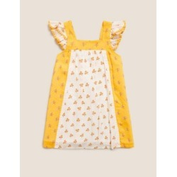Marks & Spencer Pure Cotton Floral Dress (2-7 Yrs) - Yellow Mix - 4-5 Years found on Bargain Bro from Marks and Spencers - US for USD $21.28