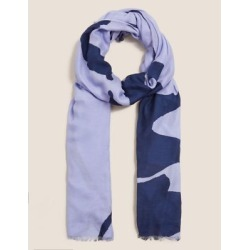 Marks & Spencer Woven Printed Scarf with Modal - Blue Mix - One Size found on Bargain Bro India from Marks and Spencers - US for $22.00