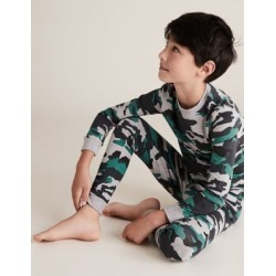 Marks & Spencer Cotton Rich Camouflage Pyjama Set (7-16 Yrs) - Grey Mix - 12-13 Years found on Bargain Bro India from Marks and Spencers - US for $16.50