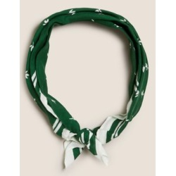 Marks & Spencer Pure Cotton Woven Printed Neckerchief - Green - One Size found on Bargain Bro India from Marks and Spencers - US for $16.50