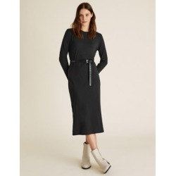 Marks & Spencer Pure Cotton Midi T-Shirt Dress - Black - US 6 found on Bargain Bro India from Marks and Spencers - US for $42.50