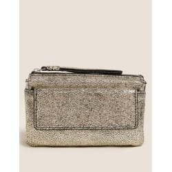 Marks & Spencer Leather Zip Around Travel Wallet - Metallic - One Size found on Bargain Bro India from Marks and Spencers - US for $42.50