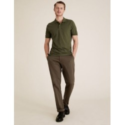 Marks & Spencer Slim Fit Pure Cotton Pique Polo Shirt - Cedar - US XS found on Bargain Bro India from Marks and Spencers - US for $26.00