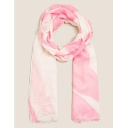 Marks & Spencer Woven Printed Scarf with Modal - Pink Mix - One Size found on Bargain Bro India from Marks and Spencers - US for $22.00