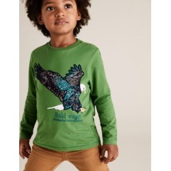 Marks & Spencer Cotton Embroidered Eagle Top (2-7 Yrs) - Green - 2-3 Years found on Bargain Bro India from Marks and Spencers - US for $14.00