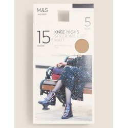 Marks & Spencer 5pk 15 Denier Matt Knee Highs - Illusion - One Size found on Bargain Bro from Marks and Spencers - US for USD $3.42