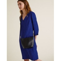 Marks & Spencer Crepe Animal Print V-Neck Shift Dress - Blue Mix - US 14 (UK 18) found on MODAPINS from Marks and Spencers - US for USD $42.50