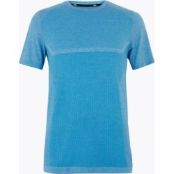 Marks & Spencer Slim Fit Seam Free T-Shirt - Light Blue - US S found on Bargain Bro India from Marks and Spencers - US for $32.50