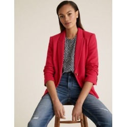 Marks & Spencer Jersey Slim Textured Blazer - Fuchsia - US 20 found on Bargain Bro from Marks and Spencers - US for USD $79.80