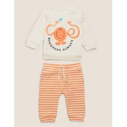 Marks & Spencer 2 Piece Pure Cotton Mr Men™ Outfit (7lbs-3 Yrs) - Orange Mix - 1 Months found on Bargain Bro India from Marks and Spencers - US for $21.00