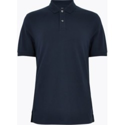 Marks & Spencer Pure Cotton Pique Polo Shirt - Dark Navy - US M found on Bargain Bro India from Marks and Spencers - US for $26.00
