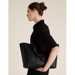 Marks & Spencer Leather Tote Bag - Black - One Size found on Bargain Bro India from Marks and Spencers - US for $175.00