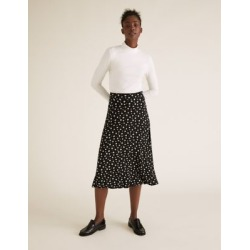 Marks & Spencer Jersey Floral Midi Skater Skirt - Black Mix - US 20 (UK 24) found on MODAPINS from Marks and Spencers - US for USD $42.50