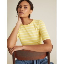 Marks & Spencer Pure Cotton Striped Crew Neck T-Shirt - Yellow Mix - US 4 found on Bargain Bro from Marks and Spencers - US for USD $9.88