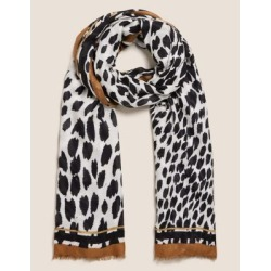 Marks & Spencer Animal Print Scarf with Modal - Natural Mix - One Size found on Bargain Bro India from Marks and Spencers - US for $22.00
