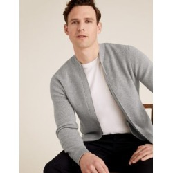 Marks & Spencer Ribbed Knitted Bomber - Grey Marl - US XX L found on Bargain Bro India from Marks and Spencers - US for $60.00