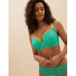 Marks & Spencer Ditsy Floral Underwired Plunge Bra F-H - Green Mix - US 34 found on Bargain Bro from Marks and Spencers - US for USD $22.80