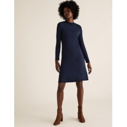Marks & Spencer Jersey High Neck Knee Length Swing Dress - Navy - US 2 (UK 6) found on MODAPINS from Marks and Spencers - US for USD $32.50