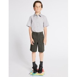 Marks & Spencer Boys' Regular Leg Pleat Front School Shorts - Grey - 5-6 Years found on Bargain Bro from Marks and Spencers - US for USD $9.50