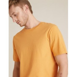 Marks & Spencer Pure Cotton Crew Neck T-Shirt - Antique Gold - US L found on Bargain Bro India from Marks and Spencers - US for $10.50