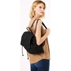 Marks & Spencer Straw Backpack - Black - One Size found on Bargain Bro India from Marks and Spencers - US for $42.50