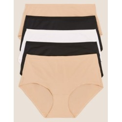 Marks & Spencer 5pk No VPL Microfibre Midi Knickers - Natural Mix - US 4 (UK 8) found on Bargain Bro from Marks and Spencers - US for USD $15.96